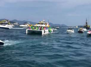 Bolsonaristas fazem 'barqueata' em Angra dos Reis