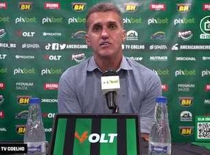 """AMÉRICA: Mancini mostra cautela mesmo após vitória e não quer 'sonhar com algo mais' no Brasileiro: """"não podemos ter entusiasmo exagerado"""""""