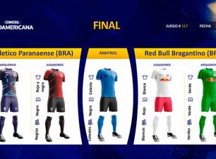 Conmebol divulga uniformes que Athletico e Bragantino usarão na final da Sul-Americana