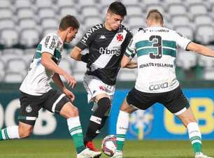 Vasco x Coritiba: onde assistir, prováveis times e desfalques