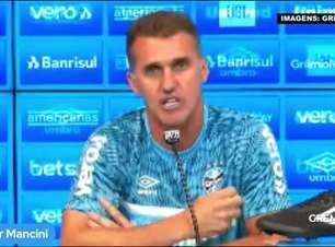 """GRÊMIO: """"A mudança tem que ser de dentro pra fora"""", avalia Mancini e aposta em reação já no confronto contra o Juventude"""