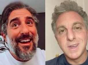 Marcos Mion faz brincadeira com cena de choro e cita Luciano Huck no Caldeirão