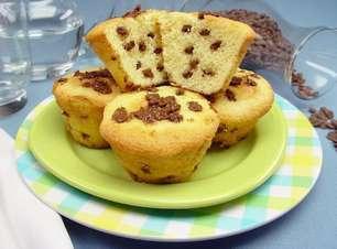Receita de muffin com gotas de chocolate