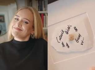 Adele emoldurou chiclete mastigado por Celine Dion