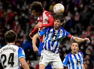 Atlético de Madrid reage e empata com a Real Sociedad
