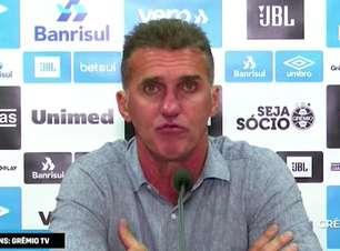 """GRÊMIO: Mancini pede calma após derrota ao falar sobre erros defensivos: """"não temos condições de resolver os problemas da temporada em uma partida"""""""