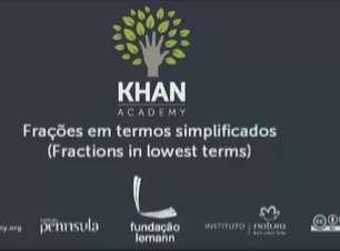 Frações em termos simplificados