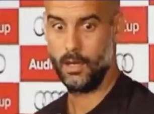 """Acorda aí! Guardiola se """"desliga do mundo"""" em coletiva"""
