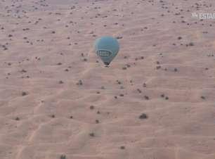 De balão, uma aventura pelo deserto de Dubai
