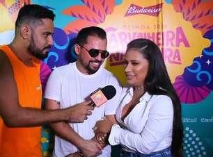 Simone invade entrevista de Xand Avião em Olinda