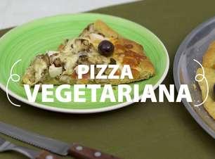 Pizza vegetariana com shitake fácil e irresistível