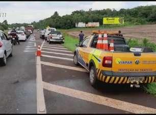 Cinco veículos se envolvem em acidente na BR 369 em Cascavel