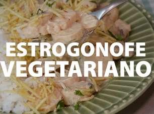 Estrogonofe vegetariano de palmito