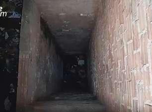 Mulher cai em fosso de oito metros de profundidade