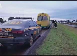Duas pessoas ficam feridas em acidente de trânsito na BR 277 em Cascavel