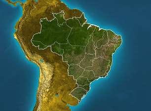 Previsão Brasil - Massa de ar seco mantém o tempo firme no interior do país.