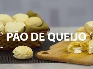Pão de queijo recheado com requeijão