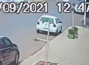 Câmera de segurança registra furto de veículo no Bairro Floresta