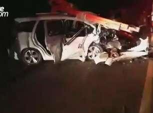 Duas pessoas ficam gravemente feridas em acidente na PR 484 próximo à Boa Vista