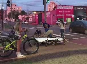 Ciclista fica ferido em acidente registrado no Bairro São Cristóvão