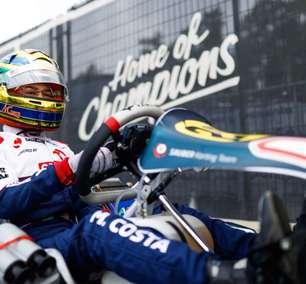 Miguel Costa valoriza aprendizado em abertura do Europeu de Kart na Bélgica e mira evolução na pista