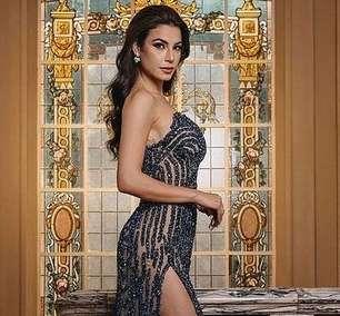 Gaúcha usa look de 70 mil cristais no Miss Universo
