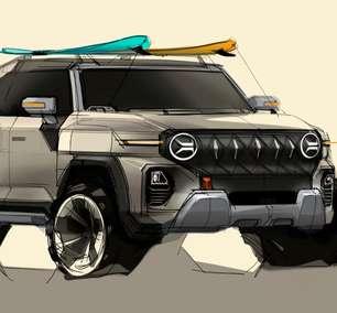SsangYong mostra esboço de novo SUV com cara de Jeep