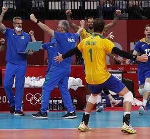Em grande partida, Brasil supera a França no vôlei masculino