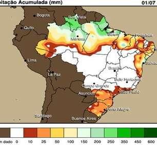 Frio e pouca chuva foram destaques no Brasil em julho