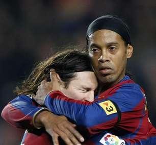 Ronaldinho se vê triste por vice do Brasil e feliz por Messi