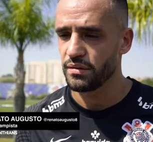 CORINTHIANS: Renato Augusto celebra primeiro treino com o grupo e cita readaptação ao futebol brasileiro