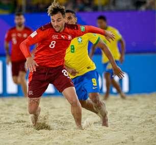 Suíça vence Brasil em estreia no Mundial de Futebol de Areia