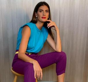 Color blocking conquista famosas da maquiagem à roupa