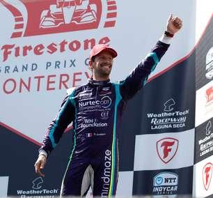 "Grosjean comemora novo pódio na Indy e declara amor por Laguna Seca: ""Foi divertido"""