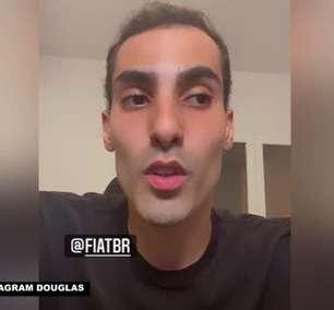 """VÔLEI: Douglas agradece patrocinador do Minas Clube por se posicionar contra comentários de Maurício Souza: """"Homofobia é crime, não é opinião"""""""