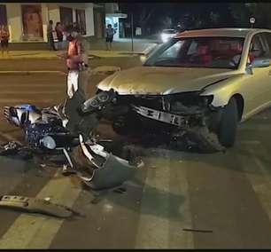 Motociclista sofre fratura exposta em acidente de trânsito em Toledo