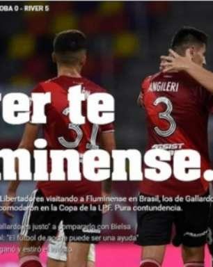 Jornal 'Olé' brinca com Fluminense e faz trocadilho para exaltar goleada do River Plate na Argentina
