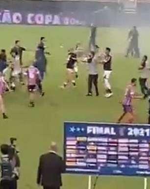 Final da Copa do Nordeste tem briga generalizada e Ceará sem receber medalhas