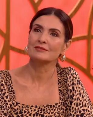 Fátima Bernardes exibe vestido de oncinha de R$ 199,90