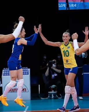 Seleção feminina de vôlei derrota a Alemanha na Liga das Nações