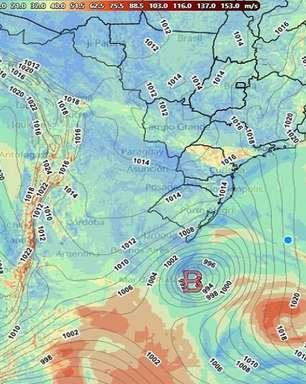 Ventania de forte ciclone extratropical ameaça Sul do Brasil