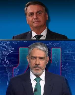 Em live, Bolsonaro ataca Globo e revela encontro com Bonner