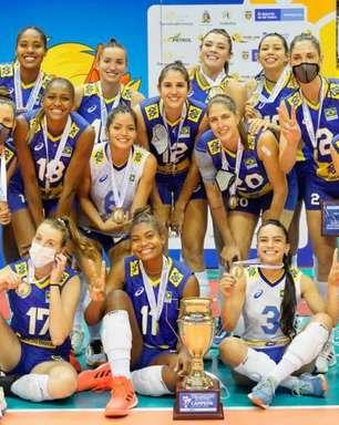 Vôlei: Brasil perde da Colômbia, mas é campeão Sul-Americano