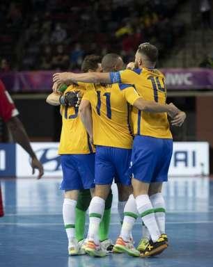 Brasil vence e está nas quartas da Copa do Mundo de Futsal