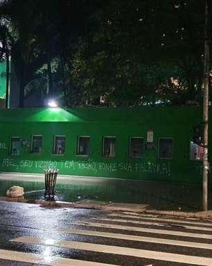 Após derrota, Allianz Parque é pichado em protesto a Abel
