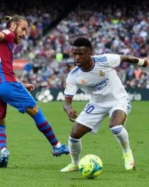 Courtois elogia partida de Vinícius Júnior contra o Barcelona
