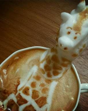 Barista cria artes 3D sobre café; veja
