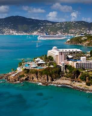 Hotel em St. Thomas tem praia particular e vista paradisíaca