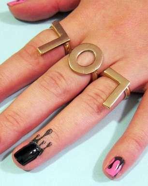 Tatuagem temporária na cutícula é nova tendência para as unhas
