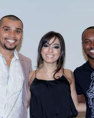 Veja fotos de Anitta, Naldo e Thiaguinho em coletiva da Globo